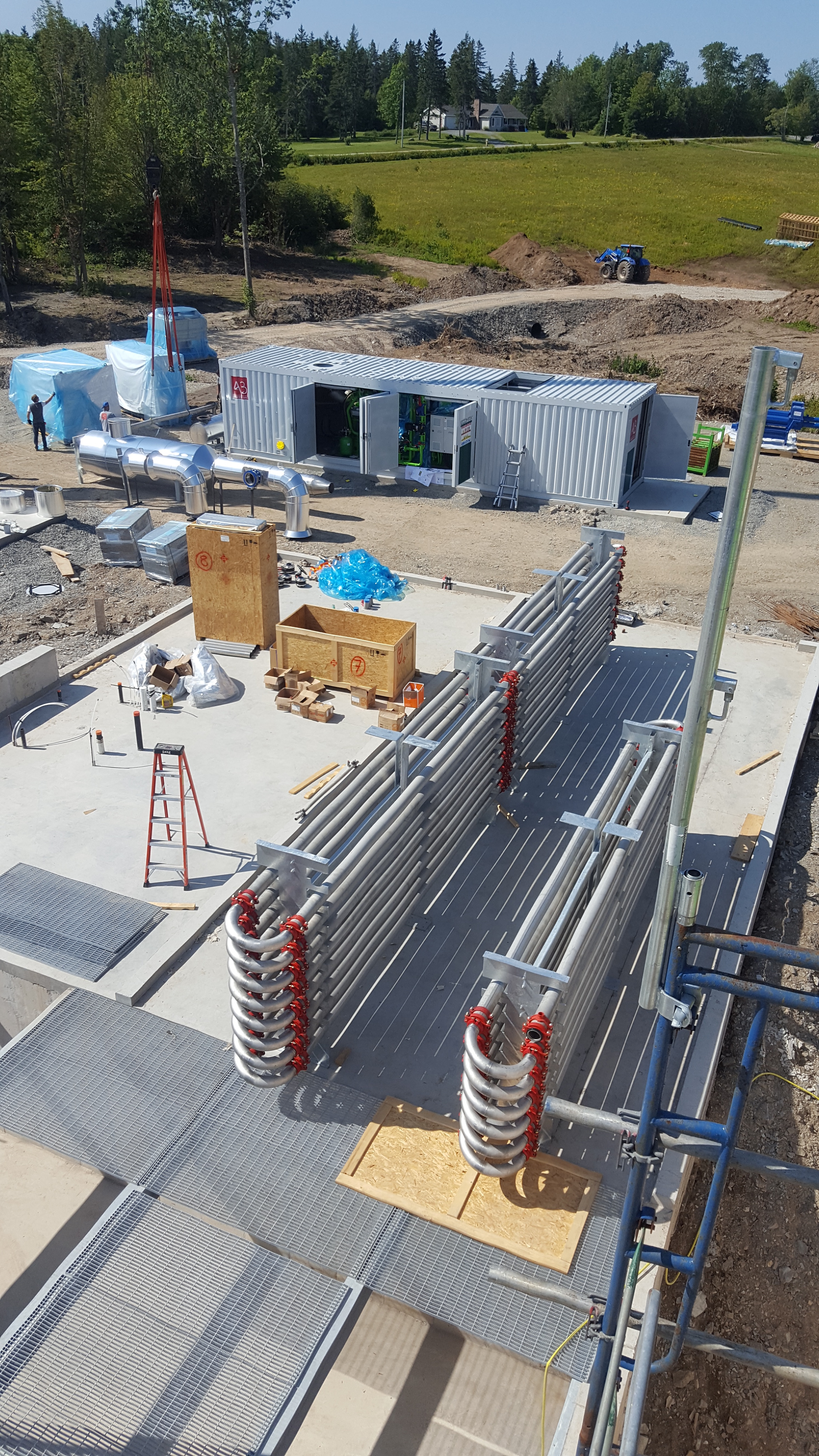 Industrial processing Biogas plant